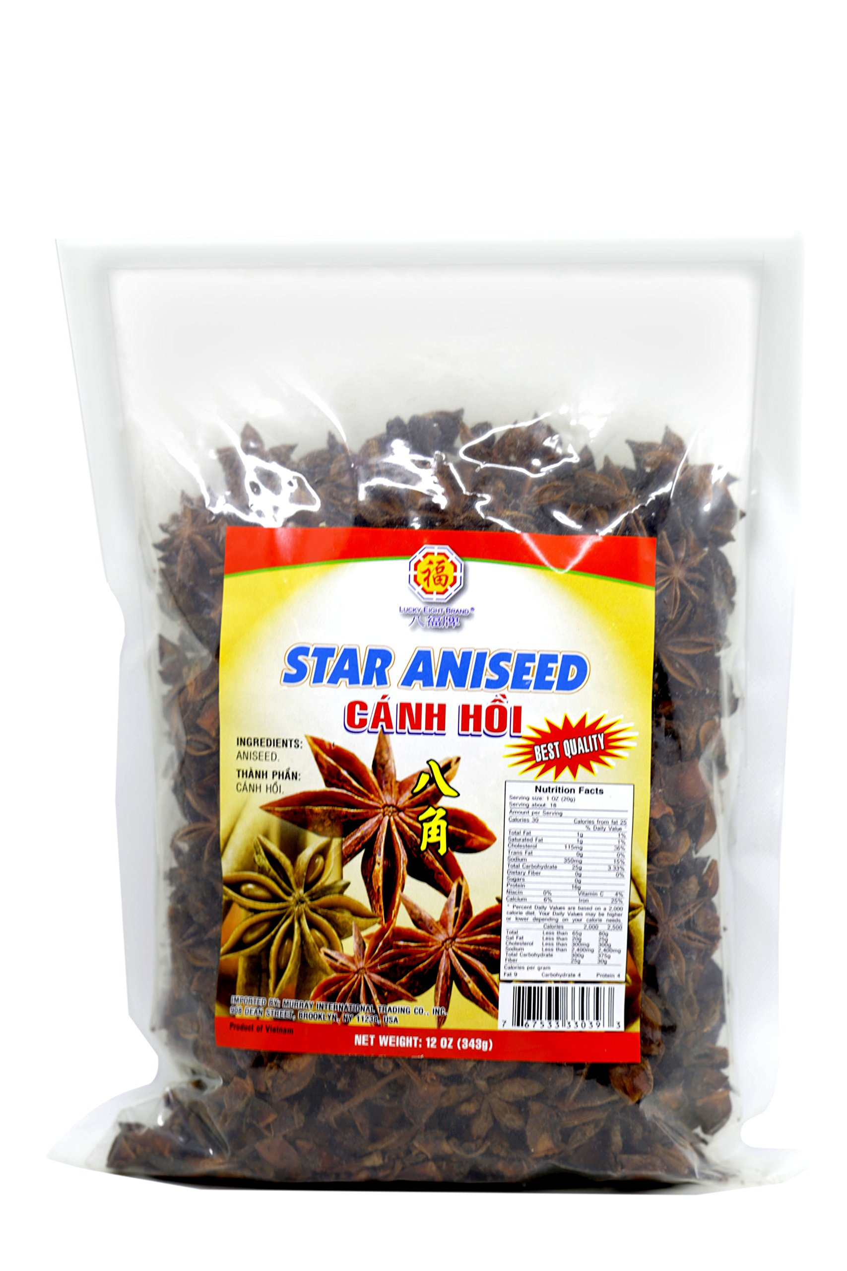 Get Quotations · Star Anise-12oz-Whole Chinese Star Anise Pods, Dried Anise  Star Spice (