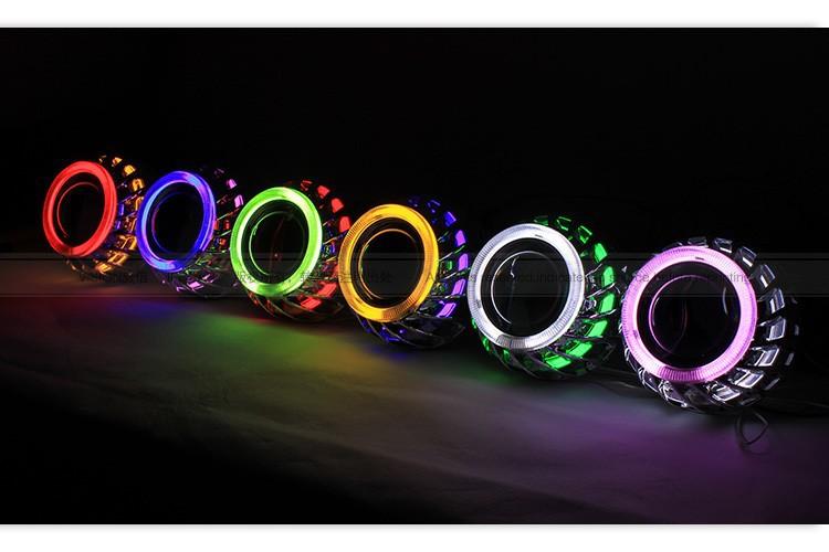 H1 Mini Visteon Hid Projector Light Bike Virous Double Angel Eyes