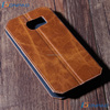 Flip leather phone case with inside magnet for samsung s6