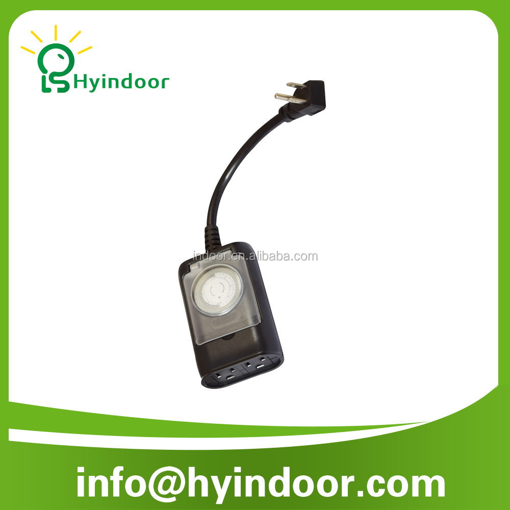 2 Outlet dual outlet Outdoor Daily Waterproof Mechanical <strong>Timer</strong> For Lighting Control