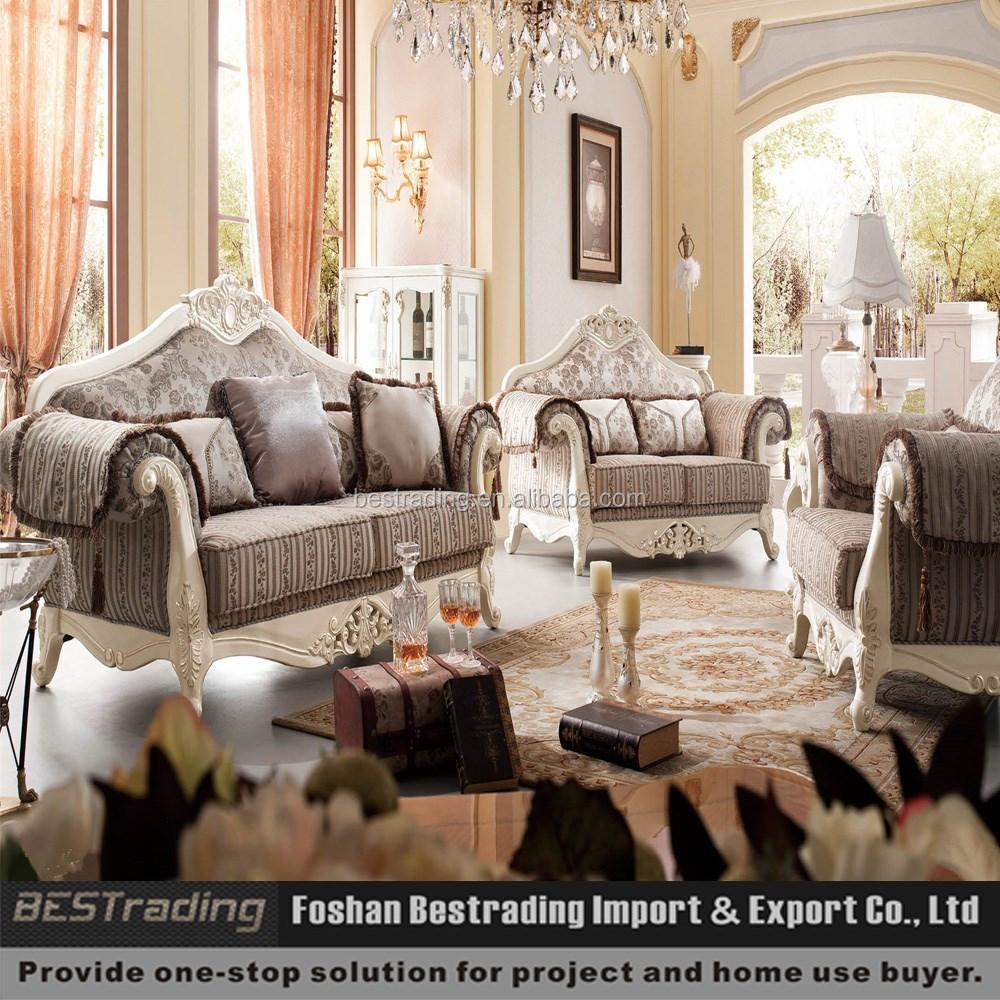 nieuwe klassieke meubels bank houten frame stoffen zitbank china ...