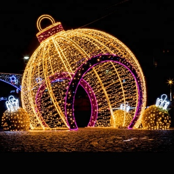 Outdoor Christmas Led Street Light Motif Ip65 Giant Displays For Decoration