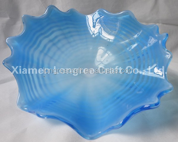 Murano Glass Plate Varying Shape and Color Art Murano Glass Plates for Hotel Wall and Window Hanging