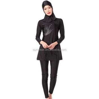Full Covering Modest Ladies Swimming Suits Oeml Women Muslim