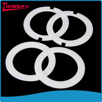 Hollow White Customized Wear-resistant Silicone Rubber O Rings Oil Seals clear silicone o -ring