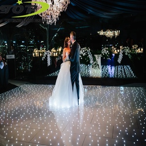 dubai banquet high gloss white acrylic sheet starlit digital pixel dance floor edging for wedding party rental
