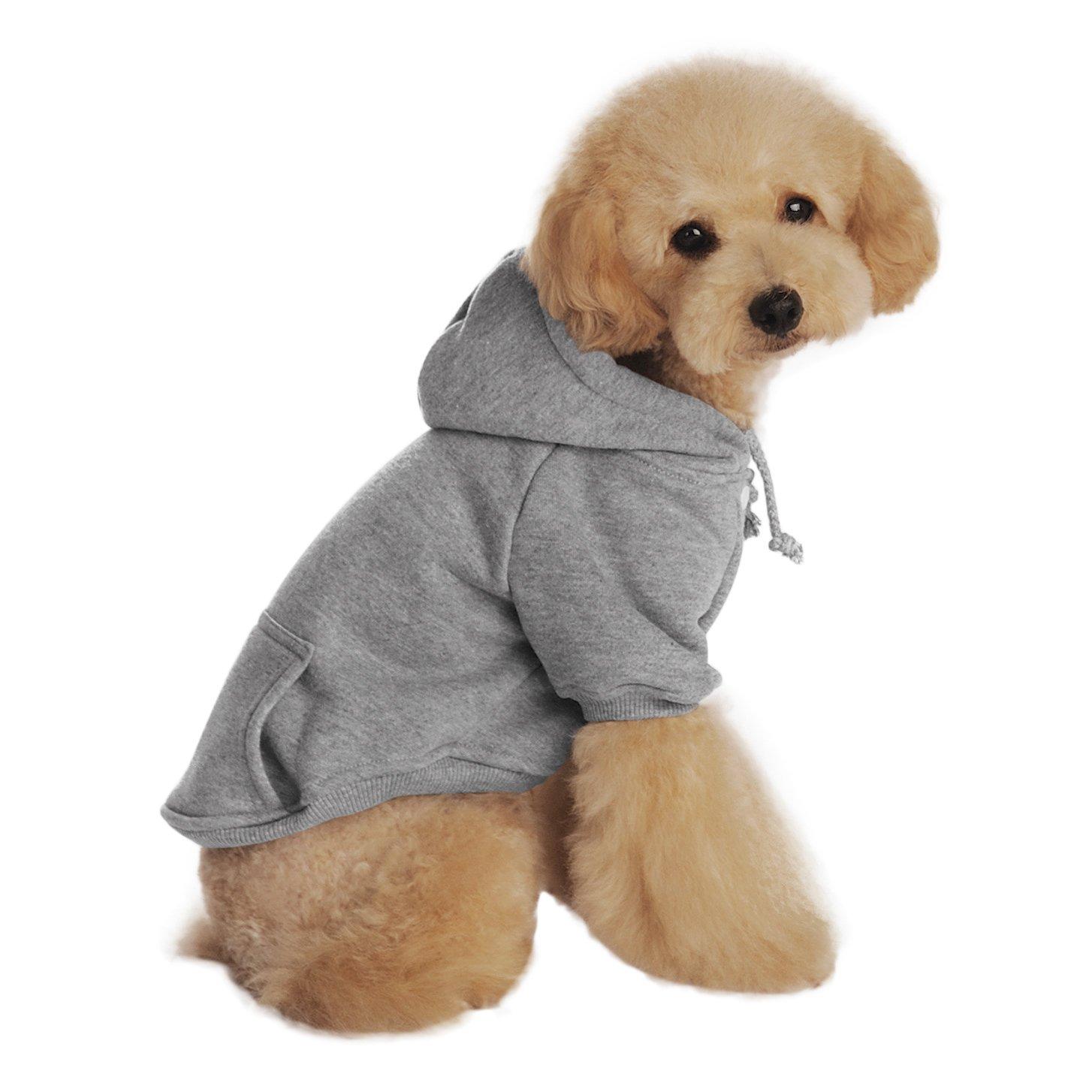 e1fec6a31 Get Quotations · Cute Cartoon Soft Warm Coral Fleece Pet Hoodie Coat Jacket  Winter Autumn No Cold Thick Velvet