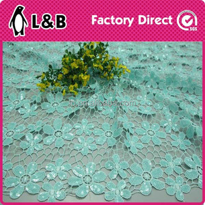 2016 latest beautiful flower design embroidery lace fabric