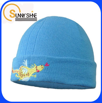 Sunny Shine blue funny animal baby beanie caps custom baby knitted hat wholesale
