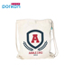 Eco Small Cotton Grocery Canvas Drawstring Bag With Logo Printing