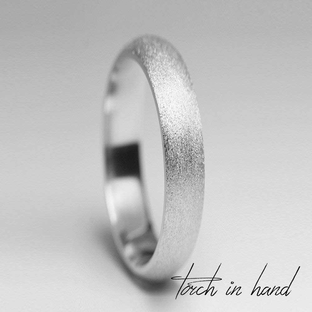 2a84f814bb0e73 Get Quotations · White Gold Wedding Band, 14k Solid White Gold 2mm Wide,  Matte Wedding Band,