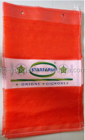 PP Leno mesh bags for vegetables