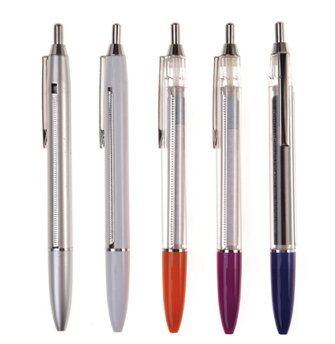 smooth writing bright color plastic ballpoint pen with stylish clip