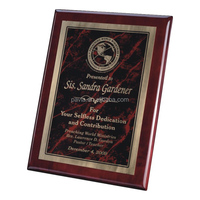 custom design glossy black wooden plaque /award plaque for company
