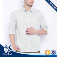 New Style China Shandao Custom Checked Casual Long Sleeve Indian Designer Shirts For Men