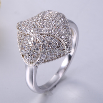 Beautiful Pave Women Fancy 925 Sterling Silver Ring Buy