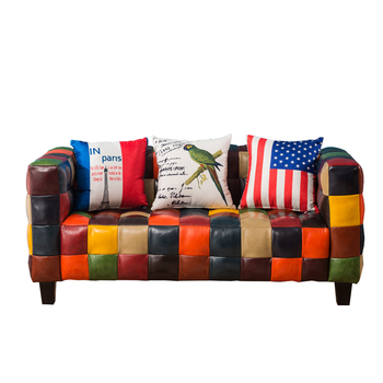 Tremendous Stylish Antique Splicing Leather Sofa Seat Buy Splicing Leather Sofa Stylish Leather Sofa Antique Leather Sofa Product On Alibaba Com Caraccident5 Cool Chair Designs And Ideas Caraccident5Info