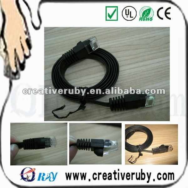 30awg UTP Fluke test flat network cable Cat5e FLAT cable