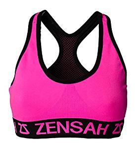 8bae6cec3b Get Quotations · Zensah Womens Reversible Sports Bra - Seamless Sport Bra