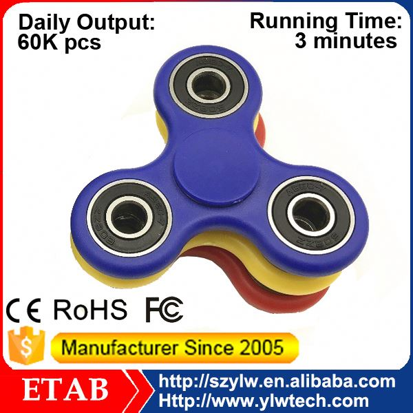 Enough Stock Daily Production 60K Pcs Tri Hand Toys Copper Relieve Stress Edc Spinner Fidgets