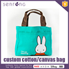Wholesale Black Cotton Tote Bags Promotion Canvas Cosmetic Bag