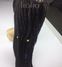 easy to attach synthetic hair crochet dreadlocks wig for women