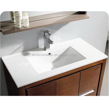 35 Inch Bathroom Sink, Wash Basin, Ceramic Sanitary Bathroom Vanity Cabinet  Basin Wash
