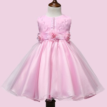 2017 Baby Girls Pink Frock Designs For Flower Puffy Dresses Girl Of 5 Years