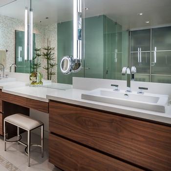 Superb Stone Venner Work Top , One Piece Vanity Top Bathroom Vanity Top Sink Design Ideas