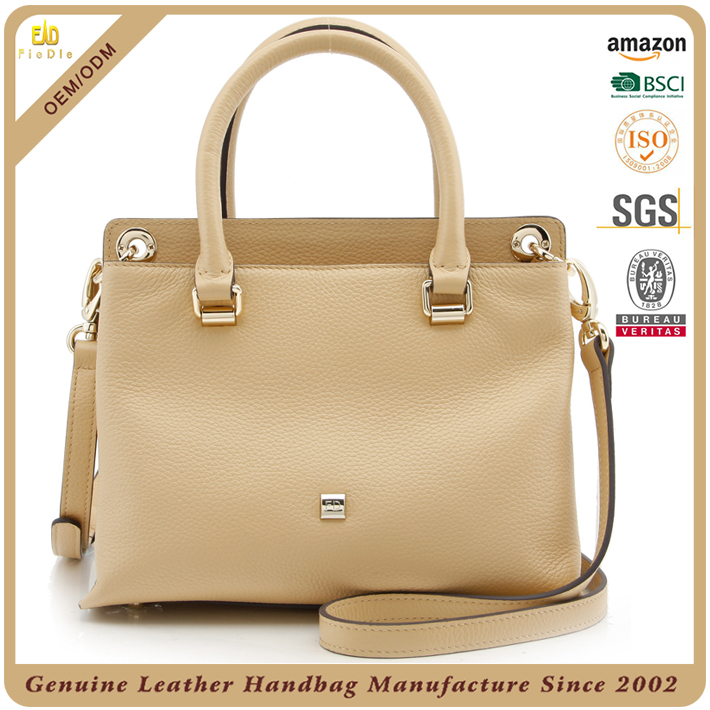 China Fashion designer wholesale branded genuine leather ladies handbag manufacturers women handbags