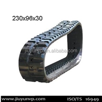 Replacement Manufacture in China IHI 15 VX Rubber tracks light vehicles,track size 230x96x30 mini excavator rubber track