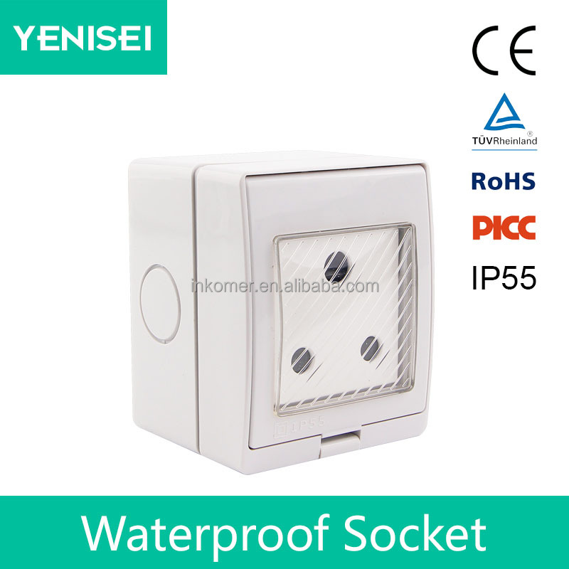 2 gang 16A eu ce tuv approvaled connect power south africa wall switch socket