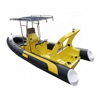 Hot Sale PVC Hypalon Orca Fiberglass Hull Inflatable Rib 580 boat With Motor