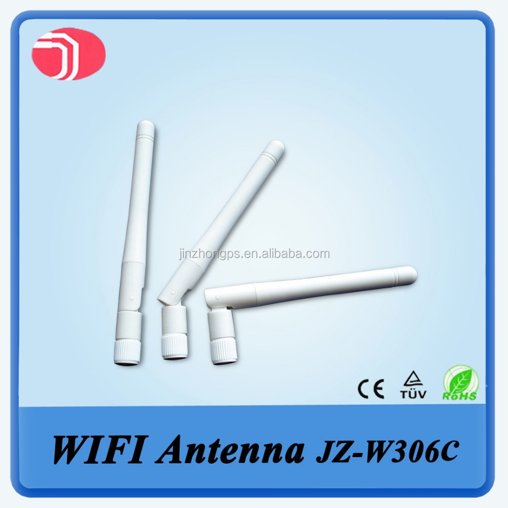 New white rubber 5dBi wifi antenna small connector 2.4g wifi external antenna