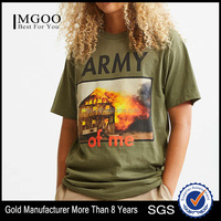 MGOO Apparel Silk Screen Printing Soft Cotton T-shirt Big Tall Wholesale T Shirts Customizable Graphic Standard Fit Tee