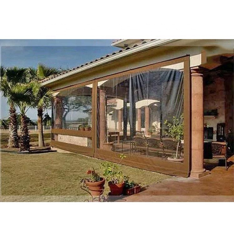 Hot sale waterproof sun shade fabric 0.5mm Awning Canopy patio enclosure