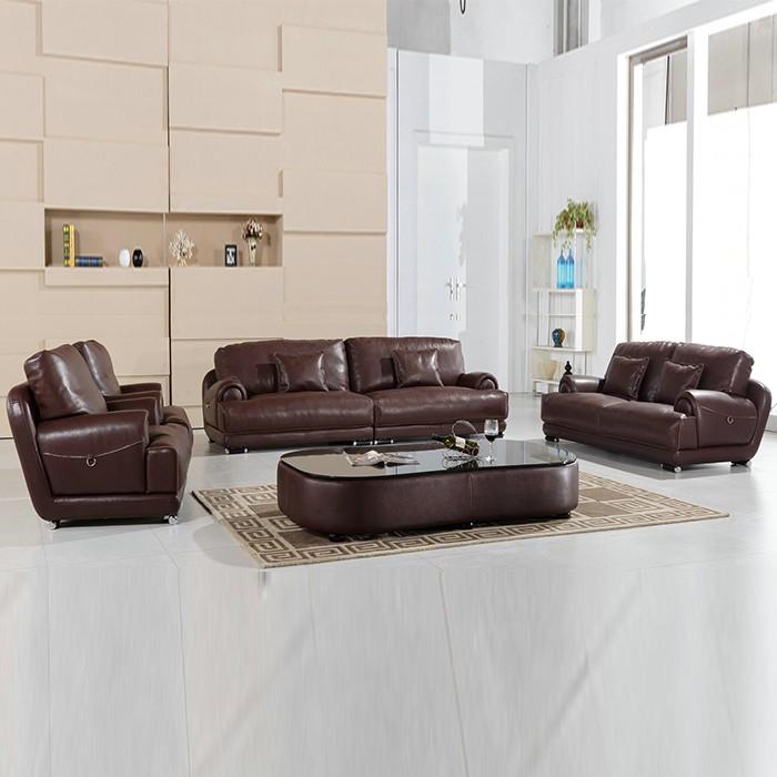 Cheap I Shape Led Light Leather Sofa With Storage Box