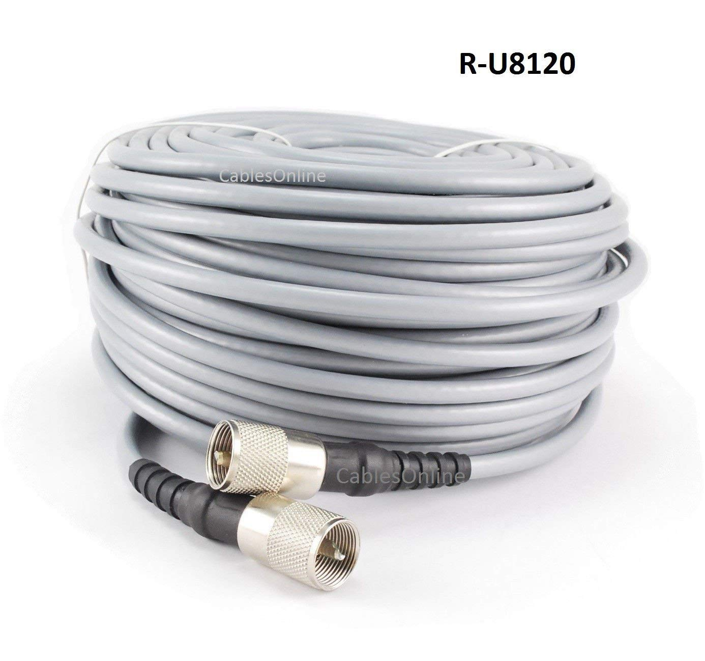RoadPro RP-8X3CL Clear 3 CB Antenna Coax Cable with PL-259 Connectors