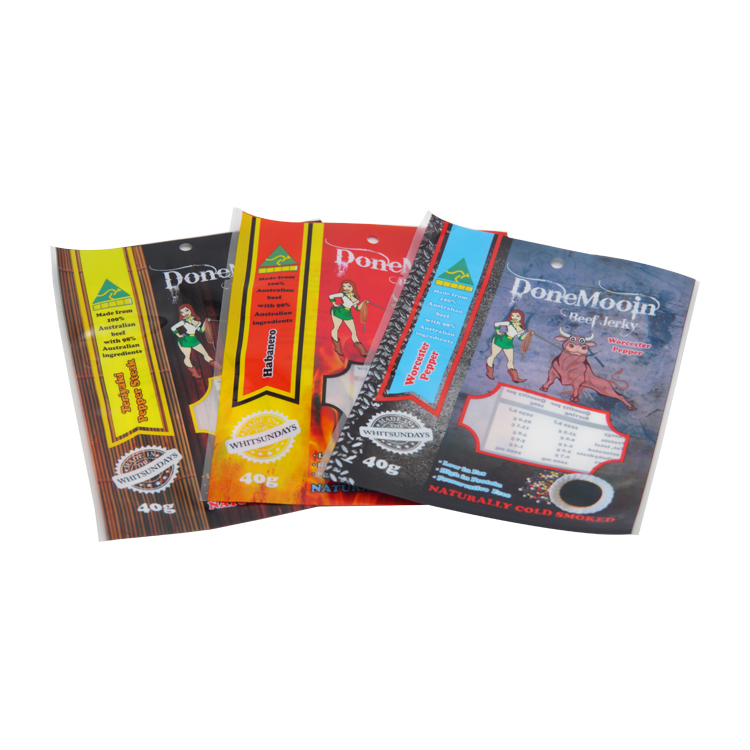 New Products Laminated Material Flexible Plastic Beef Jerky Packaging Bag