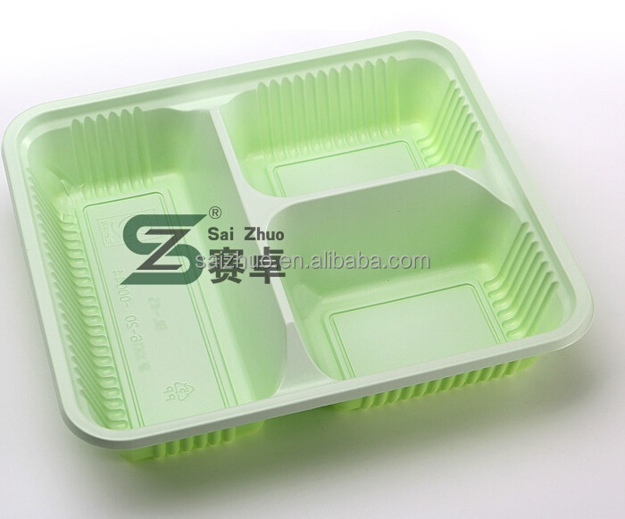 Hot sale 3 compartment plastic disposable food container to malaysia ,Thailand ,singapore market