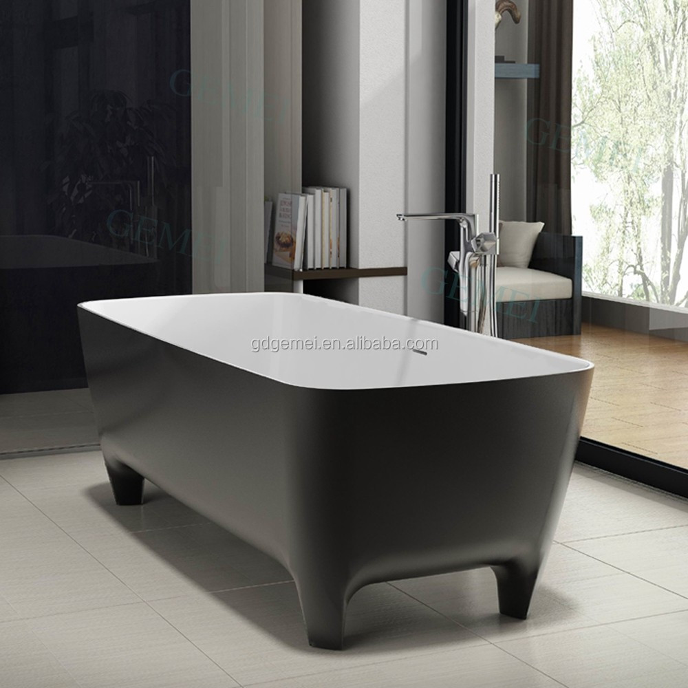 Small Sitting Spa Hot Artificial Stone Acrylic Standing Bathtub For Disabled