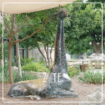 Great Hot Cast Menthod Large Size Bronze Statue Garden Decoration Metal Giraffe