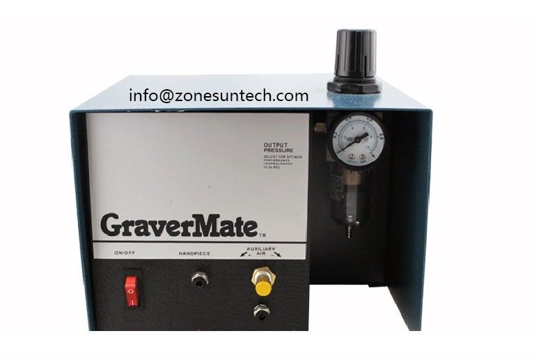 ZONESUN Pneumatic Jewelry Engraving Machine Single Ended Graver mate Graver Tool Jewelry Engraver supply