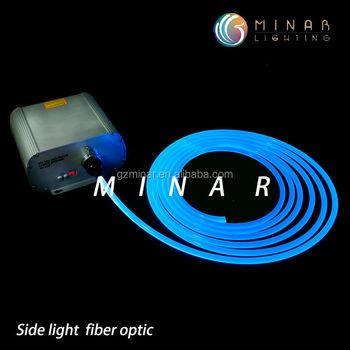 150w 8 kleuren veranderen enkele kant gloed glasvezel verlichting led lichtbron