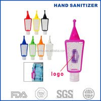 promotional product 1 oz hand sanitize with silicone holders key chain