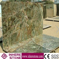 indian rainforest green marble tiles/slabs