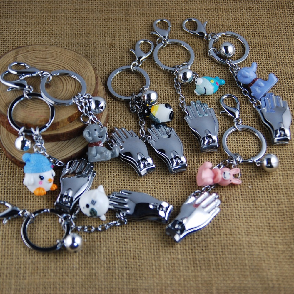 2018 year hot sale New fashion Rabbit elephant cartoon nail knives key chain keyring promotional gifts