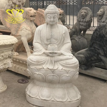 Western Style temple garden home decor hand carved New product Nature marble Buddha statue for sale