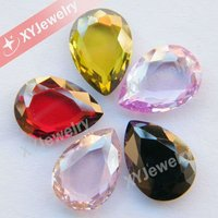Colorful Double Tables Cut CZ Loose Beads