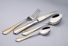 Royal real gold plated 24 Piece Service for 6 Flatware Set 18/0 Stainless Steel
